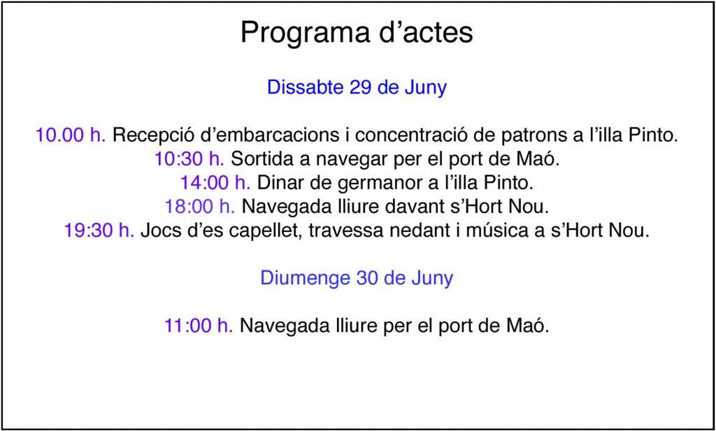 Programa Sant Pere 2013